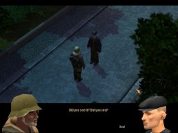 in-game cutscene with dialogue